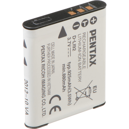 Pentax D-LI92 Rechargeable Li-Ion Battery for Pentax X70 Digital Camera