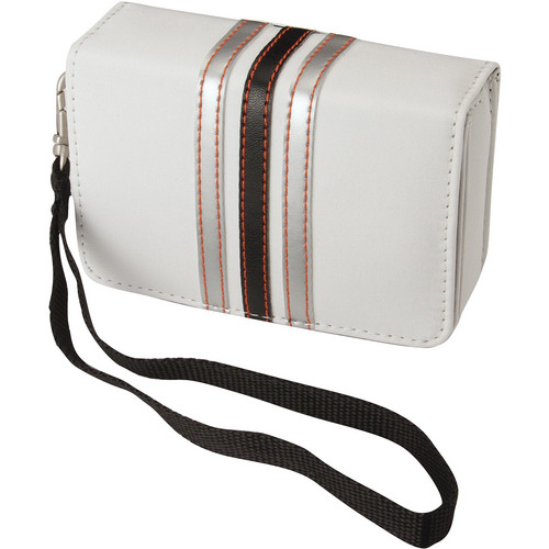 Pentax Fashion Wrist Case (White with Black Stripes)