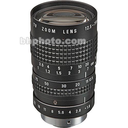 Pentax C31204 12.5mm to 75mm, f/1.8 C-Mount Lens