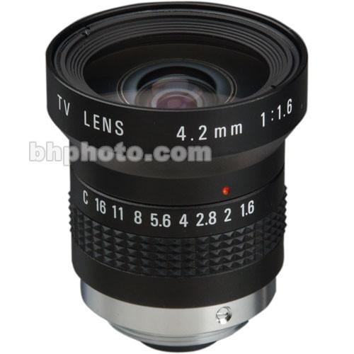 Pentax C60402 4.2mm, f/1.6 C-Mount Lens