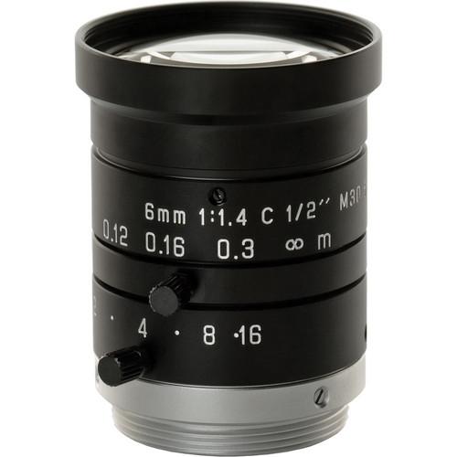 Pentax C60636KP 6mm, f/1.4 Manual Iris Lens