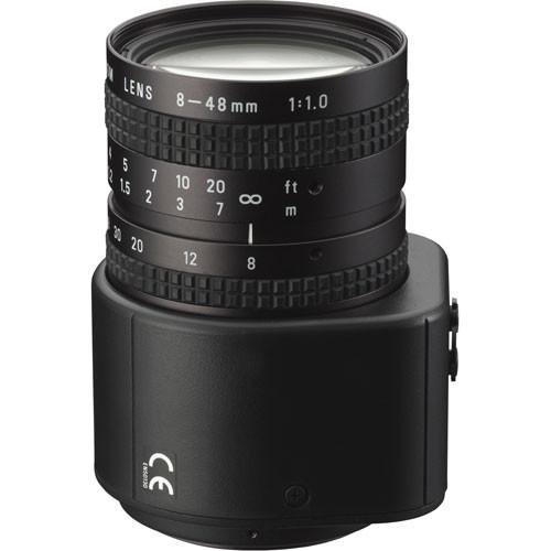 "Pentax C60811WX 1/2"" C Mount 8-48mm f/1.0 Auto Iris Varifocal Lens (w/Connector)"