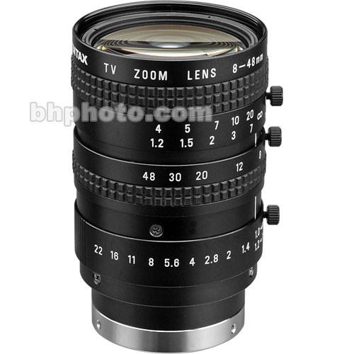 "Pentax 1/2"" C Mount 8-48mm f/1.0 Manual Zoom Lens"