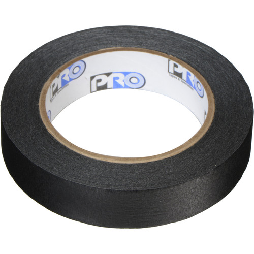 """Permacel/Shurtape Pro Tapes and Specialties Pro 46 Paper Tape - 1"""" x 60 Yds (Black)"""