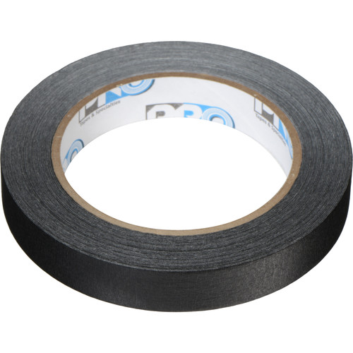 """Permacel/Shurtape Pro Tapes and Specialties Pro 46 Paper Tape - 3/4"""" x 60 Yds (Black)"""