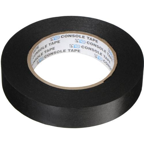 "Permacel/Shurtape Paper Console Tape - 1"" x 60 yds (Black)"