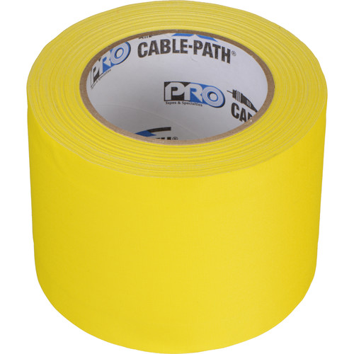 """Permacel/Shurtape Cable Path Tape - 4"""" x 30 Yards (Yellow)"""