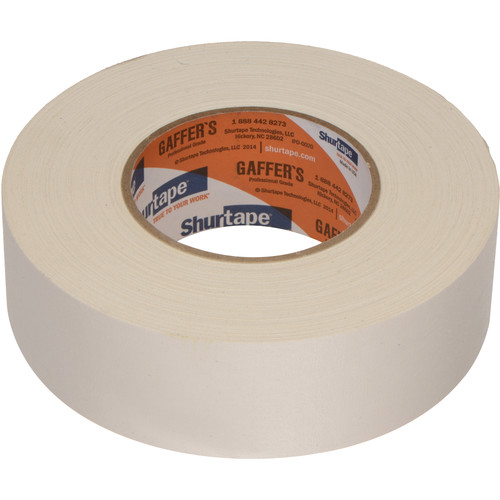 "Permacel/Shurtape P-672 Professional Gaffer Tape - 2.0"" x 50 Yds (White)"