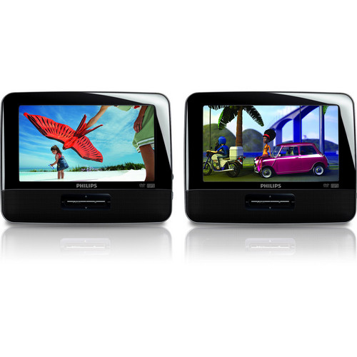 """Philips PD7016 7"""" Dual Screen Portable DVD Player"""