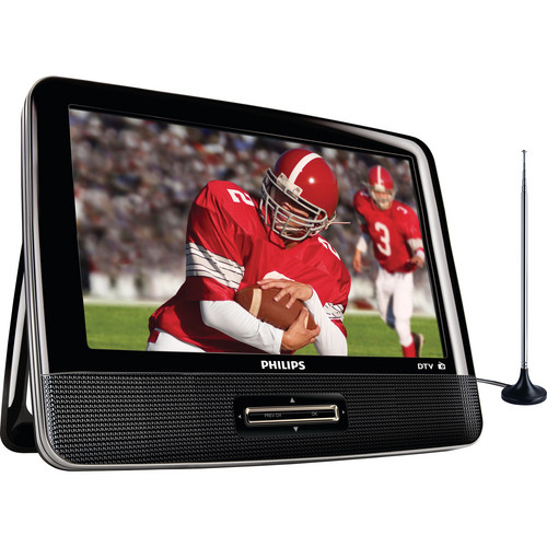 """Philips 9"""" Portable LCD Digital TV with FM Tuner"""