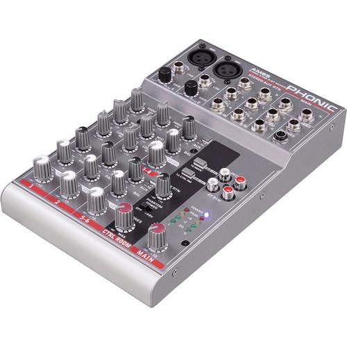 Phonic AM 85 2-Mic/Line, 2-Stereo Compact Analog Mixer
