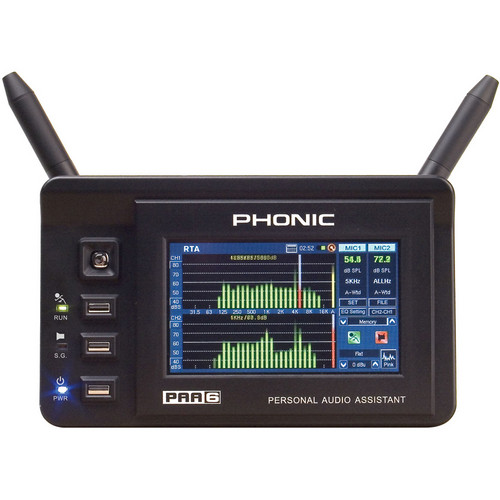 Phonic PAA6 - Digital 2-Channel Audio Analyzer with Color Touch LCD