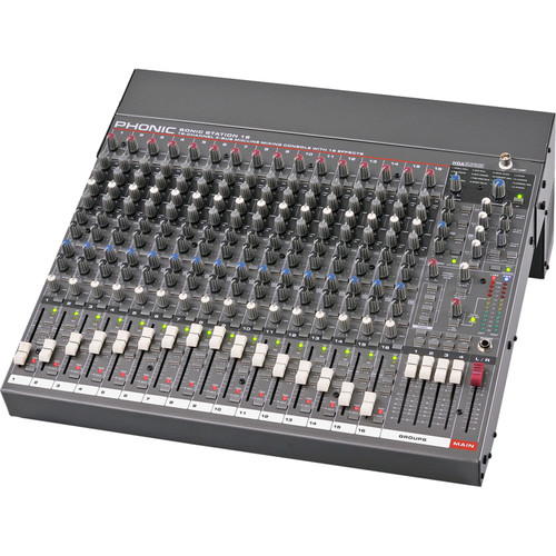 Phonic Sonic Station 16 Recording Mixer with Dual-Position I/O Pod & DFX
