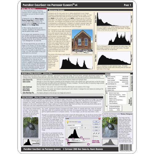 PhotoBert CheatSheet for Adobe Photoshop Elements, Volume 4