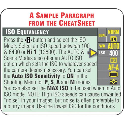 PhotoBert PhotoBert Cheat Sheet for Nikon D3200 Digital SLR Camera