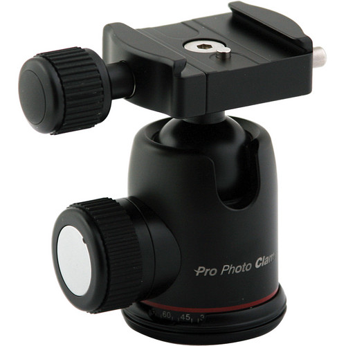 "Photo Clam PC-30NS Ball Head With 3/8"" Socket, Without Friction Screw"