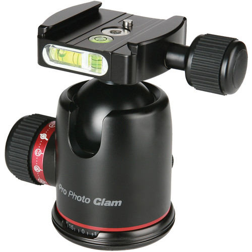 "Photo Clam BH WITH 3/8"" SOCKET/SCREW/BUBBLE LEVEL"