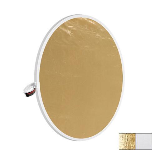 "Photoflex LiteDisc White/Gold Collapsible Circular Reflector (12"")"