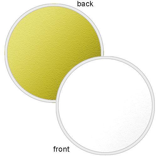 "Photoflex LiteDisc Circular Reflector, White Opaque/Gold, 22"" (56cm)"