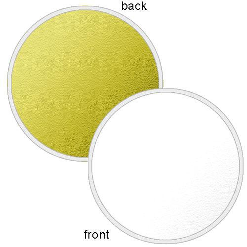 "Photoflex LiteDisc Circular Reflector, White Opaque/Gold, 42""  (107cm)"