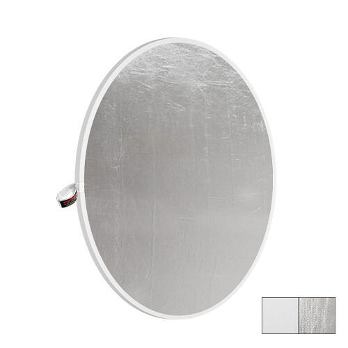 """Photoflex LiteDisc Circular Reflector, White Opaque/Silver, 12"""" (30.5cm)"""