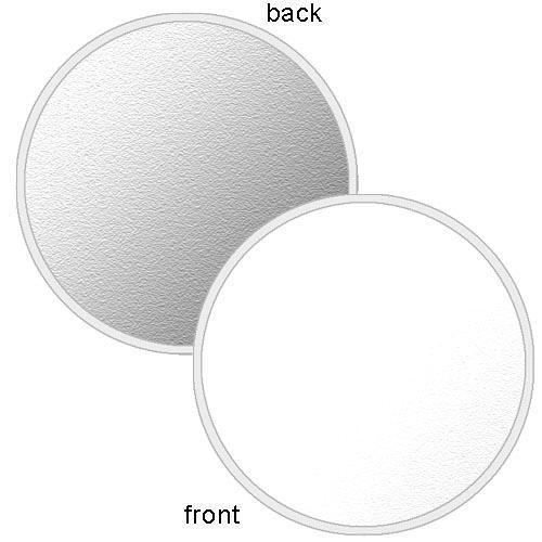 """Photoflex LiteDisc Circular Reflector, White Opaque/Silver, 52"""" (132cm)"""