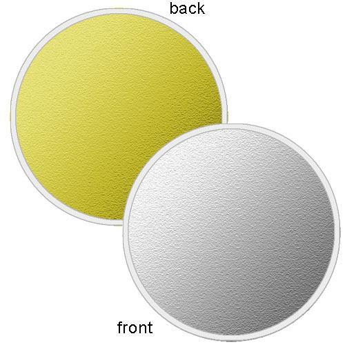 "Photoflex LiteDisc Silver/Gold Collapsible Circular Reflector (12"")"