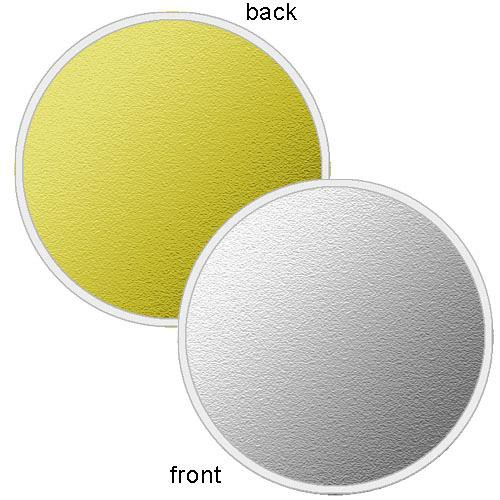 "Photoflex LiteDisc Silver/Gold Collapsible Circular Reflector (22"")"