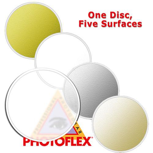 "Photoflex MultiDisc Circular Reflector, 5 Surfaces, 22"" (56cm)"
