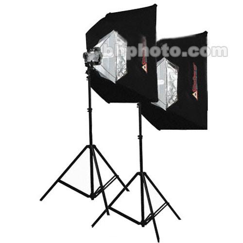 Photoflex 2-Starlite QL  2 SilverDome Softbox Light Kit (120VAC)