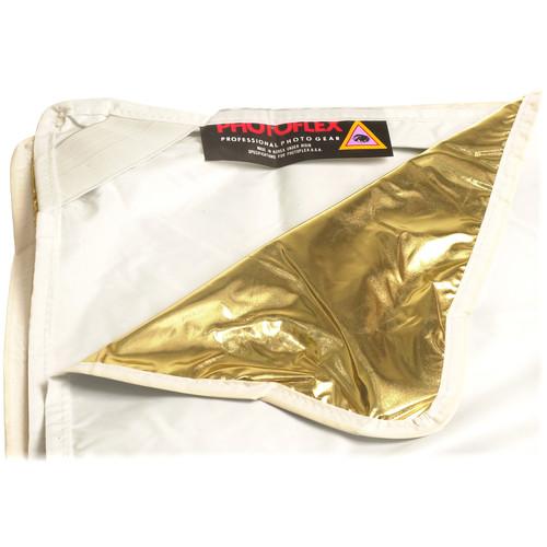"Photoflex LitePanel White/Gold Fabric Reflector (39 x 39"")"