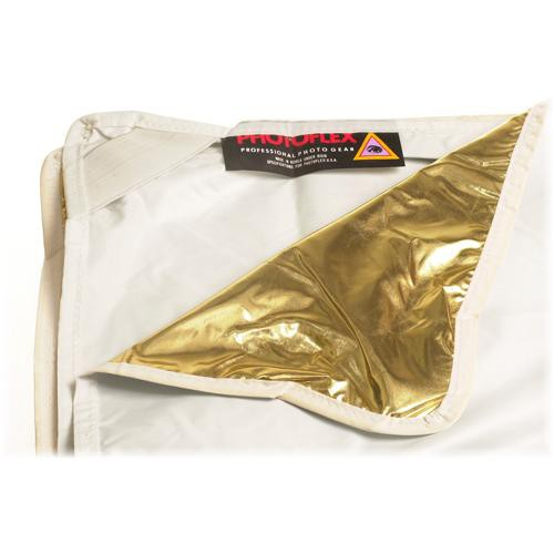 "Photoflex LitePanel White/Gold Fabric Reflector (39 x 72"")"