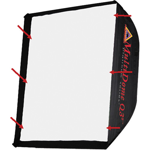 Photoflex Front Face Diffuser for Large LiteDome, SilverDome and MultiDome