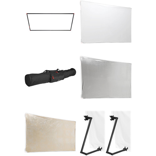 """Photoflex Reflector Kit #1 - 39x72"""" PVC, Legs"""