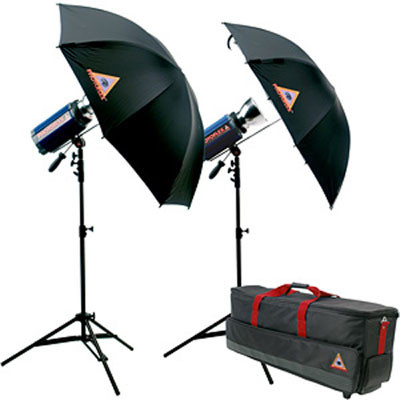 Photoflex StarFlash 650W/s Dual Umbrella Kit with Case