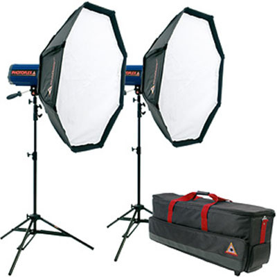 Photoflex StarFlash 650W/s Dual 3' OctoDome Kit with Case