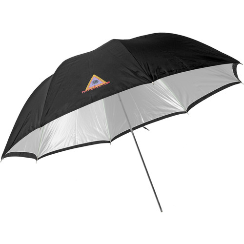 Photoflex Convertible Umbrella - White Satin with Removable Black Backing - 60""