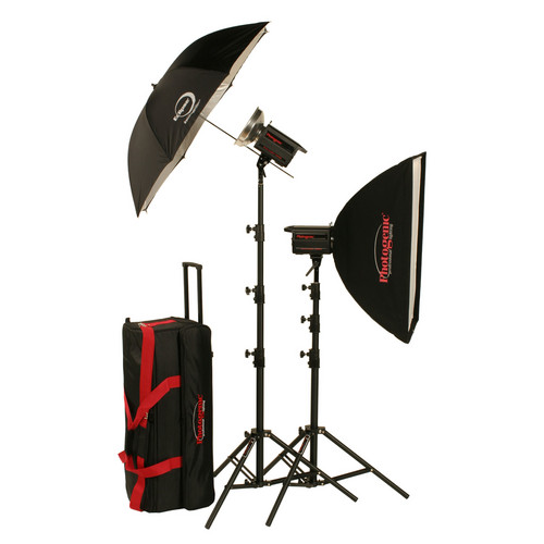 Photogenic 500W/s PowerLight Digital Travel Kit (120V)