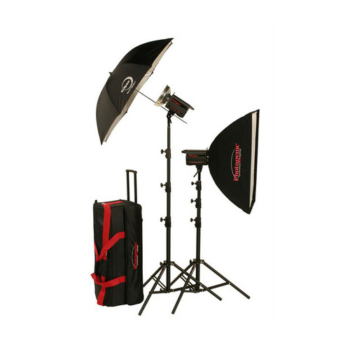Photogenic 500W/s PowerLight Digital Travel Kit with PocketWizard (120V)