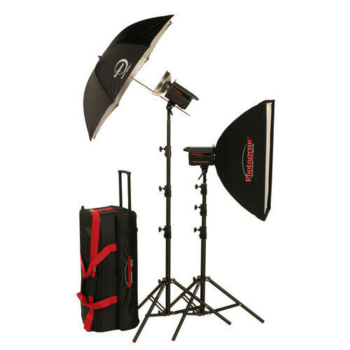 Photogenic 1,000W/s PowerLight Digital Travel Kit (120V)