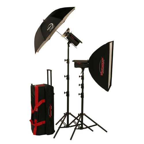 Photogenic 2,000W/s PowerLight Digital Travel Kit (120V)