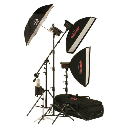 Photogenic 1,500W/s PowerLight 4 Light Studio Kit with PocketWizard (120V)