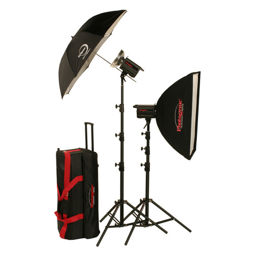Photogenic 1,000W/s Solair Digital Travel Kit With PocketWizard (120V)