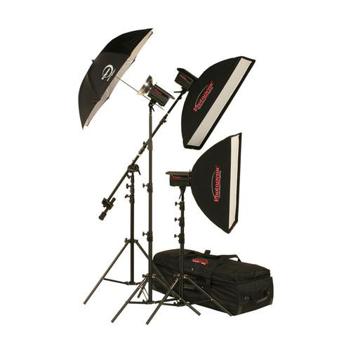 Photogenic 1,500W/s Solair 3 Light Studio Kit with PocketWizard (120V)