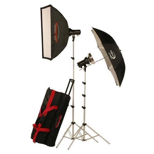 Photogenic AKC325K 320W/s Basic Studio 2 Light Soft Box Kit (120V AC)