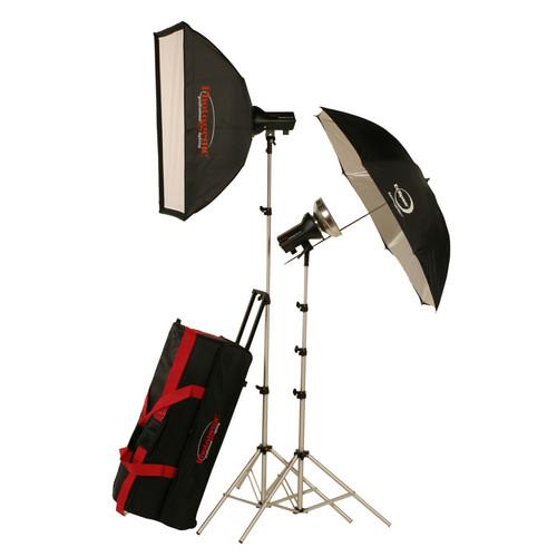 Photogenic AKC645K 645W/s Basic Studio 2 Light Soft Box Kit (120 VAC)