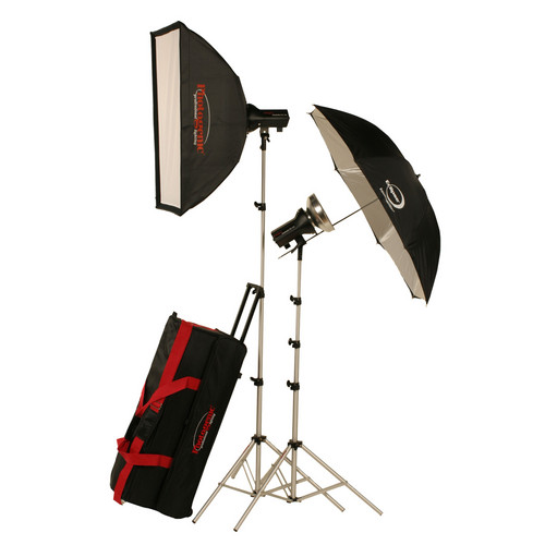 Photogenic AKC645K 645W/s Basic Studio 2 Light Soft Box Kit (120V AC)