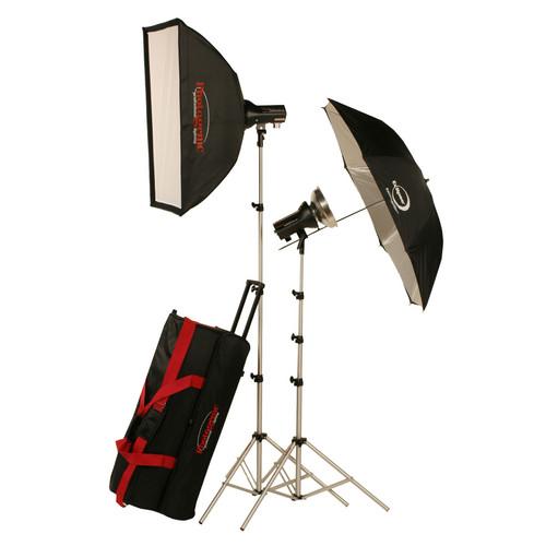 Photogenic AKC640RK 645W/s Mobile Studio 2 Light Soft Box Kit with Radio
