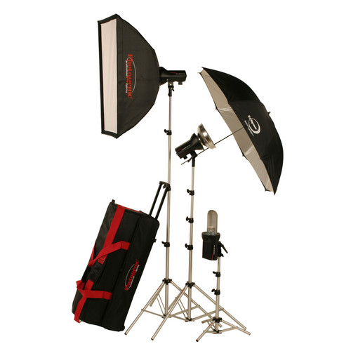 Photogenic AKC850K StudioMax 800W/s Portrait Studio 3 Light Soft Box Kit (120V AC)