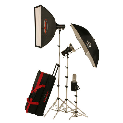 Photogenic AKC990BK 960W/s Portrait Studio 3 Light Soft Box Kit (AC/DC)